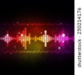 abstract music multicolor... | Shutterstock . vector #250214176