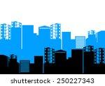 vector house silhouette... | Shutterstock .eps vector #250227343