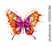 butterflies design | Shutterstock .eps vector #250231186