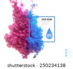 vector abstract cloud. ink... | Shutterstock .eps vector #250234138