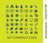 e commerce  shop  store icons ... | Shutterstock .eps vector #250235758