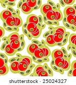 ornate cranberry pattern... | Shutterstock .eps vector #25024327