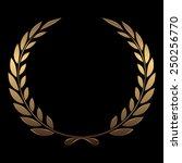 vector gold award wreaths ...   Shutterstock .eps vector #250256770