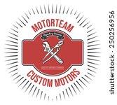 motorteam custom motors t shirt ...   Shutterstock .eps vector #250256956