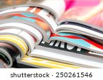 stack of magazines | Shutterstock . vector #250261546