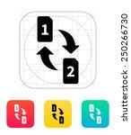 change sim cards icon. vector...