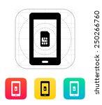 mobile phone sim card icon....