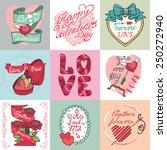 valentine s day wedding love... | Shutterstock .eps vector #250272940