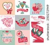 valentine s day wedding love... | Shutterstock .eps vector #250272949