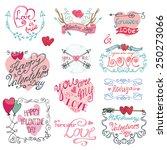 valentine s day wedding love... | Shutterstock .eps vector #250273066