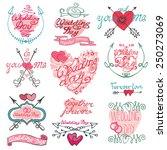 valentine s day wedding love... | Shutterstock .eps vector #250273069