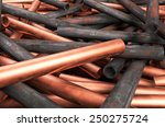 Copper Pipes Mixed With Rusty...