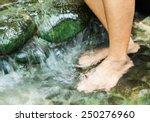 soak your feet in hot springs... | Shutterstock . vector #250276960
