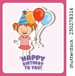 birthday design  vector... | Shutterstock .eps vector #250278316