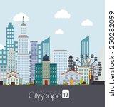 urban design over white... | Shutterstock .eps vector #250282099