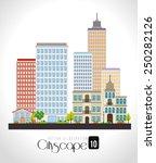 urban design over white... | Shutterstock .eps vector #250282126