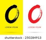 o zero  chinese brush grunge... | Shutterstock .eps vector #250284913