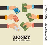 money design over beige... | Shutterstock .eps vector #250289674