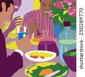 group of multiethnic friends... | Shutterstock .eps vector #250289770