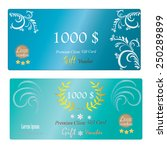 gift voucher  gift certificate  ... | Shutterstock .eps vector #250289899