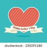 happy mothers day card  vector... | Shutterstock .eps vector #250291180
