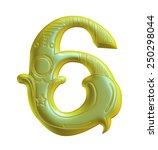 3d decorative floral digit... | Shutterstock . vector #250298044
