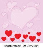 valentines card with heart | Shutterstock .eps vector #250299604