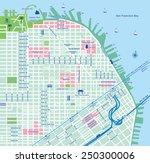san francisco city map   vector ... | Shutterstock .eps vector #250300006