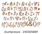 alphabet letters  numbers and... | Shutterstock . vector #250305889