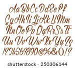 alphabet letters  numbers and... | Shutterstock . vector #250306144