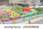 vegetable seller selling fresh... | Shutterstock . vector #250308808
