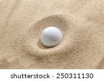 Golf Ball In Bunker