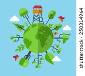 eco friendly earth concept with ... | Shutterstock .eps vector #250314964