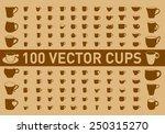 100 vector cups | Shutterstock .eps vector #250315270