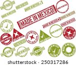 collection of 22 red grunge... | Shutterstock .eps vector #250317286