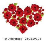 beautiful flowers in shape of... | Shutterstock . vector #250319176