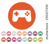 the game pad icon. game symbol. ...