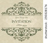 retro invitation or wedding... | Shutterstock .eps vector #250328176