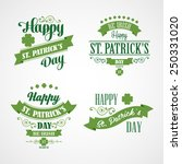 happy saint patrick's day... | Shutterstock .eps vector #250331020