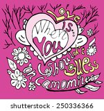 card calligraphy on valentine's ... | Shutterstock .eps vector #250336366