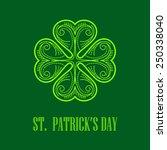 linear monogram saint patrick's ... | Shutterstock .eps vector #250338040