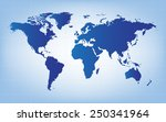 the blue world map vector... | Shutterstock .eps vector #250341964