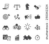 strategy and business icon set | Shutterstock .eps vector #250342324