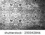 heart pattern against overhead... | Shutterstock . vector #250342846
