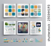 white brochure template design... | Shutterstock .eps vector #250344193