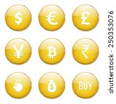currency sign yellow vector... | Shutterstock .eps vector #250353076