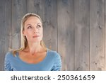 thinking pretty blonde looking... | Shutterstock . vector #250361659