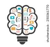 brain design over white... | Shutterstock .eps vector #250361770