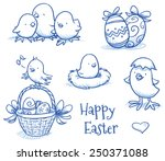 Cute Easter Icon And Chick...