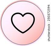 heart sign icon  vector... | Shutterstock .eps vector #250372594